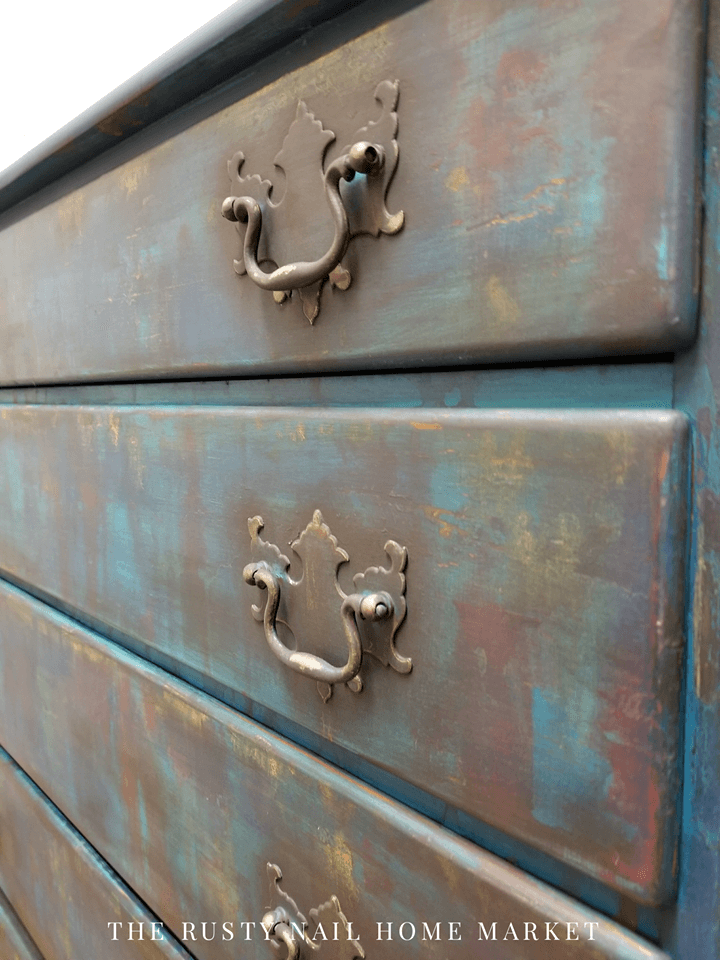 going boho close up of drawers