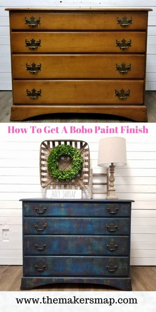 going boho - paint finish pinterest