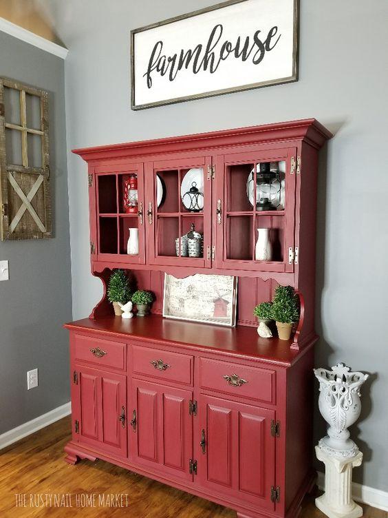 Farmhouse Hutch Painted Furniture Ideas Dixie Belle Paint