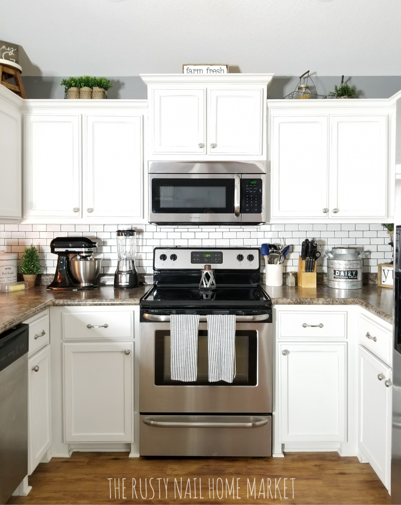 $62 Painted Kitchen Cabinets Makeover
