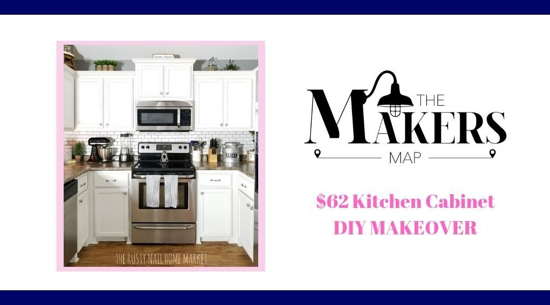 DIY Project: $62 Painted Kitchen Cabinets Makeover
