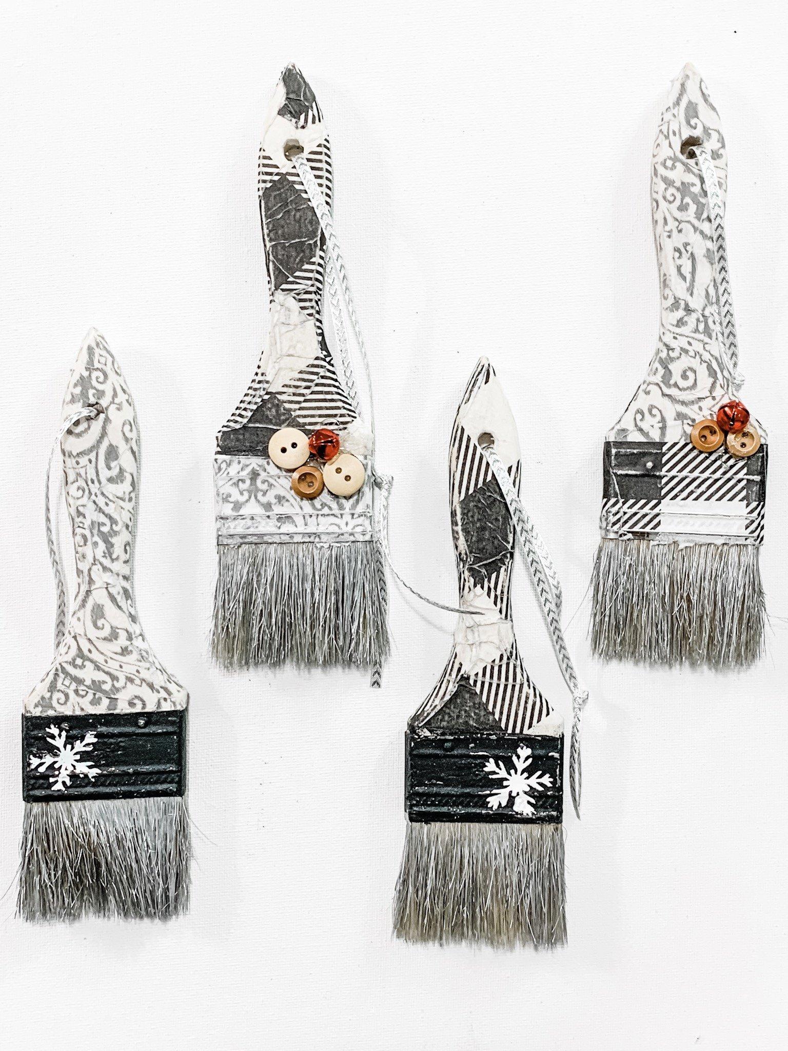 DIY Paint Brush Ornaments