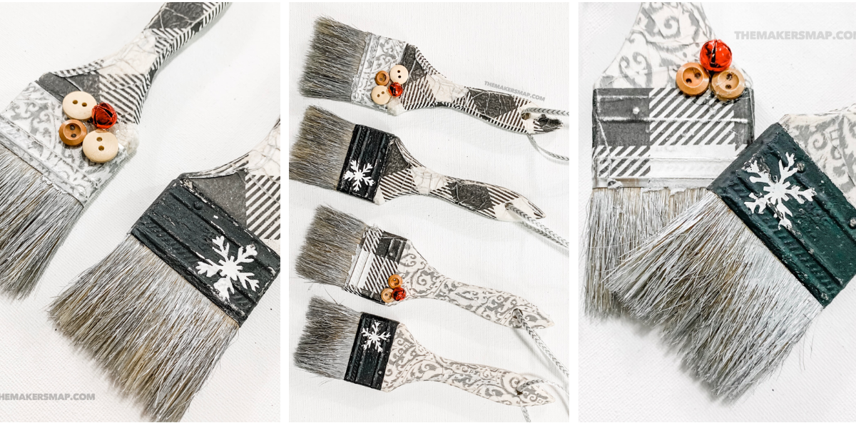 DIY Paint Brush Ornaments