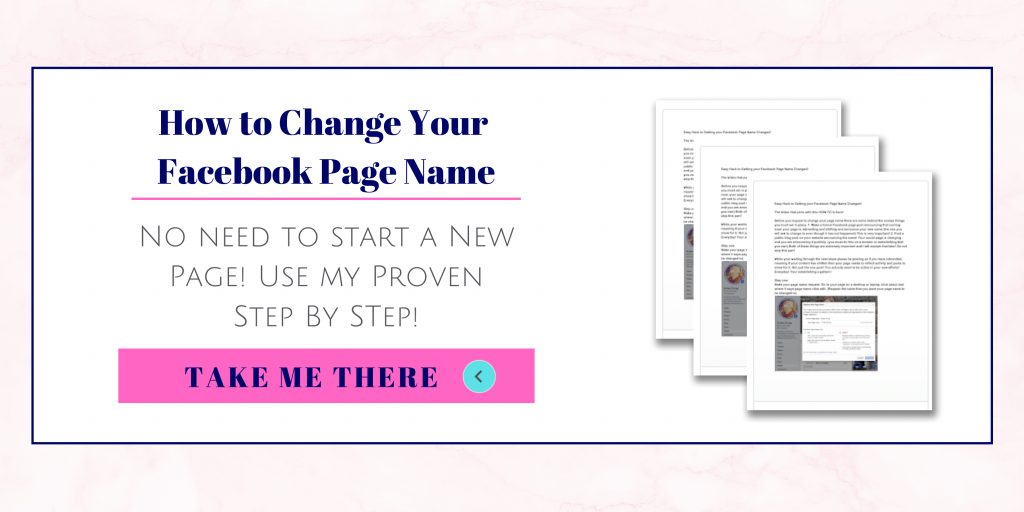 How to change your facebook page name step by step