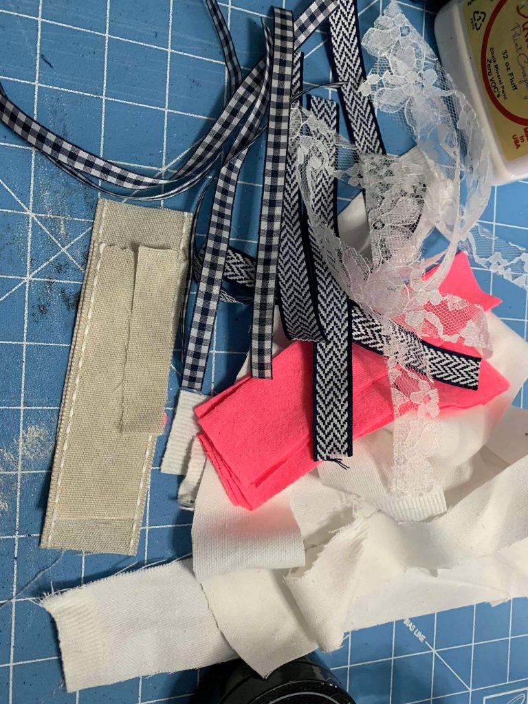 Easy DIY Layered Messy Bow Supplies