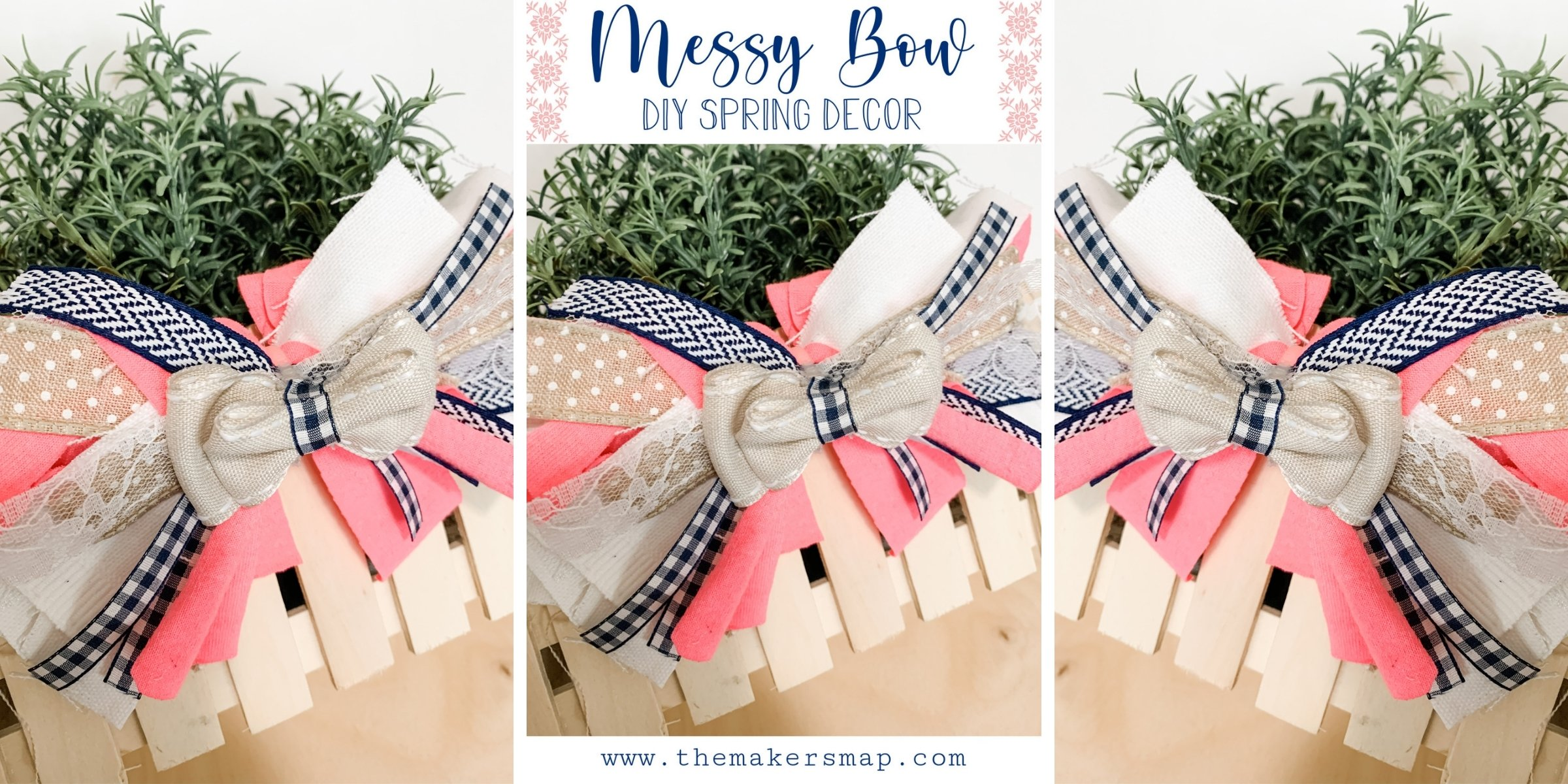 Easy DIY Layered Messy Bow