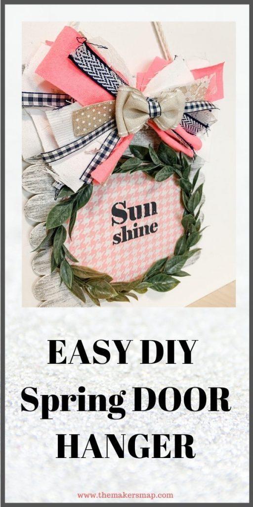 Fun and Easy DIY Spring Door Hanger