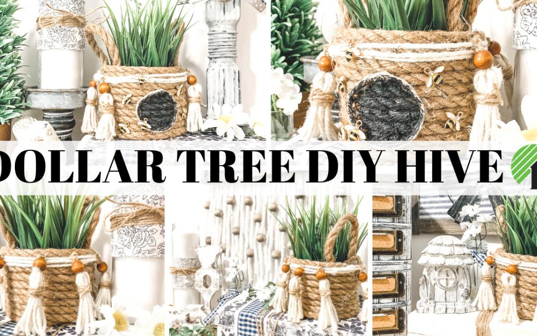 Make a Dollar Tree Bee Skep Basket