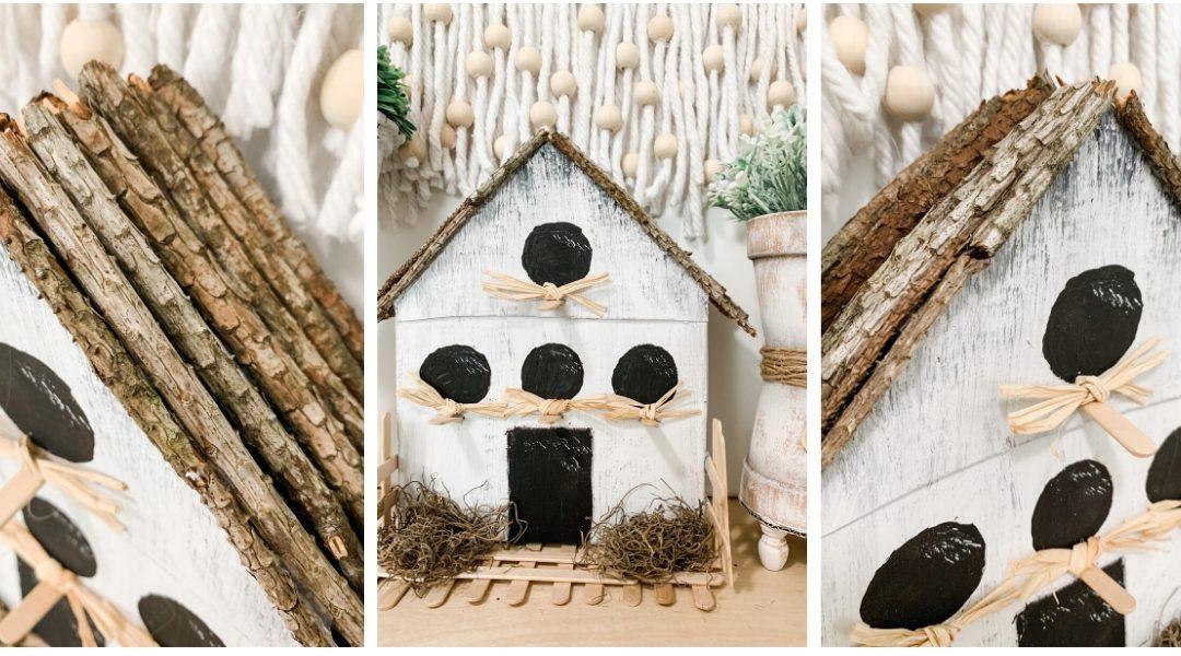 Cereal Box Birdhouse Craft DIY