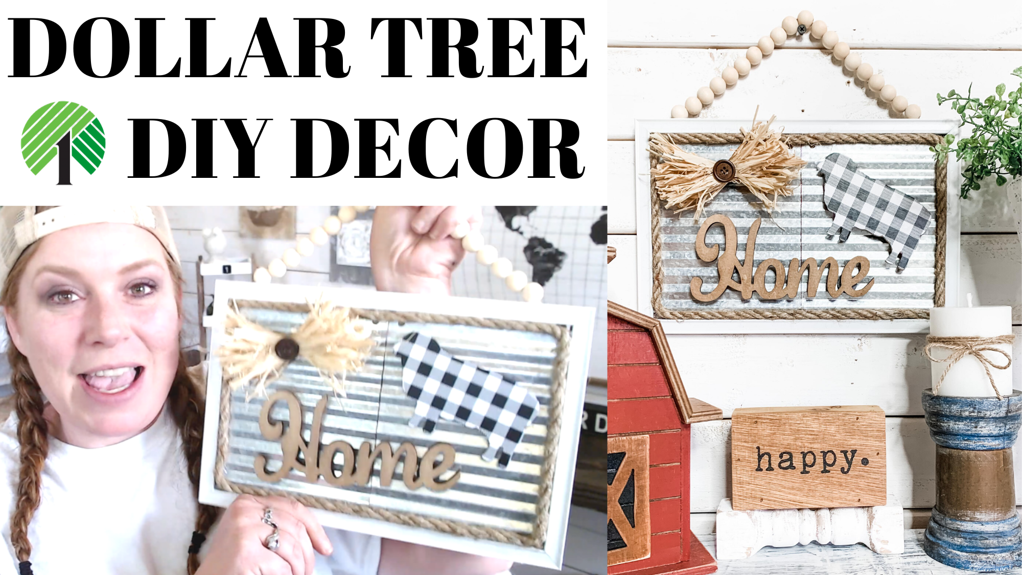 Dollar Tree Magnetic Farmhouse Decor