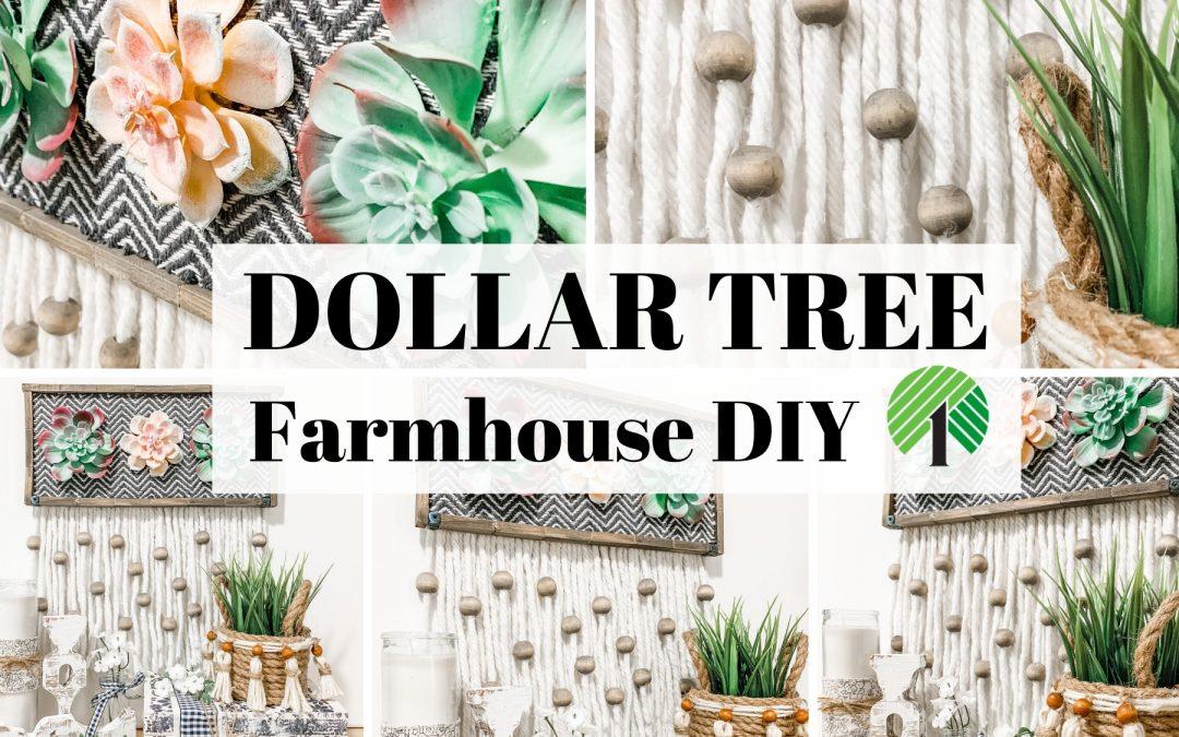 Dollar Tree Boho Farmhouse DIY