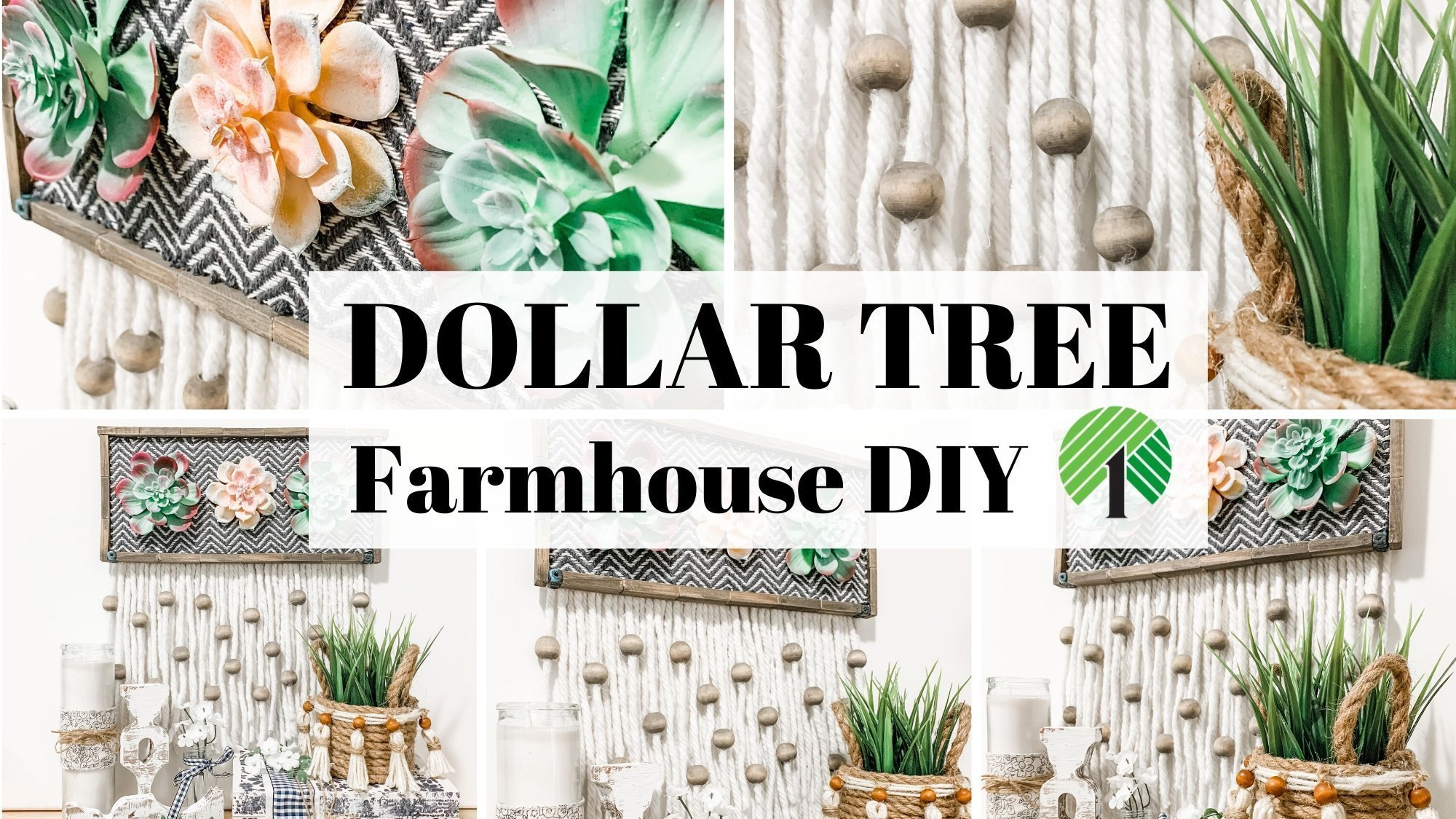 Dollar Tree Boho Farmhouse DIY