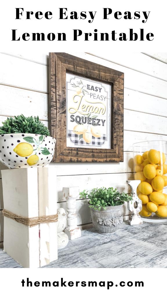 Free Easy Peasy Lemon Squeezy Printable