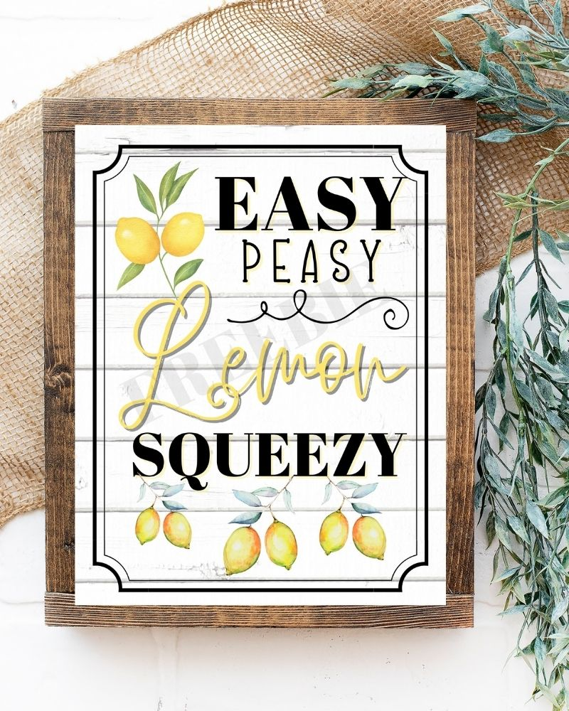 Get A Free Easy Peasy Lemon Printable To Create Pretty Lemon Decor