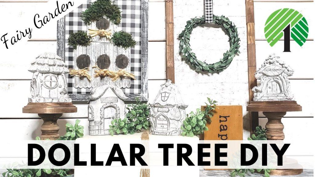 Dollar Tree DIY Farmhouse Fairy Garden Youtube