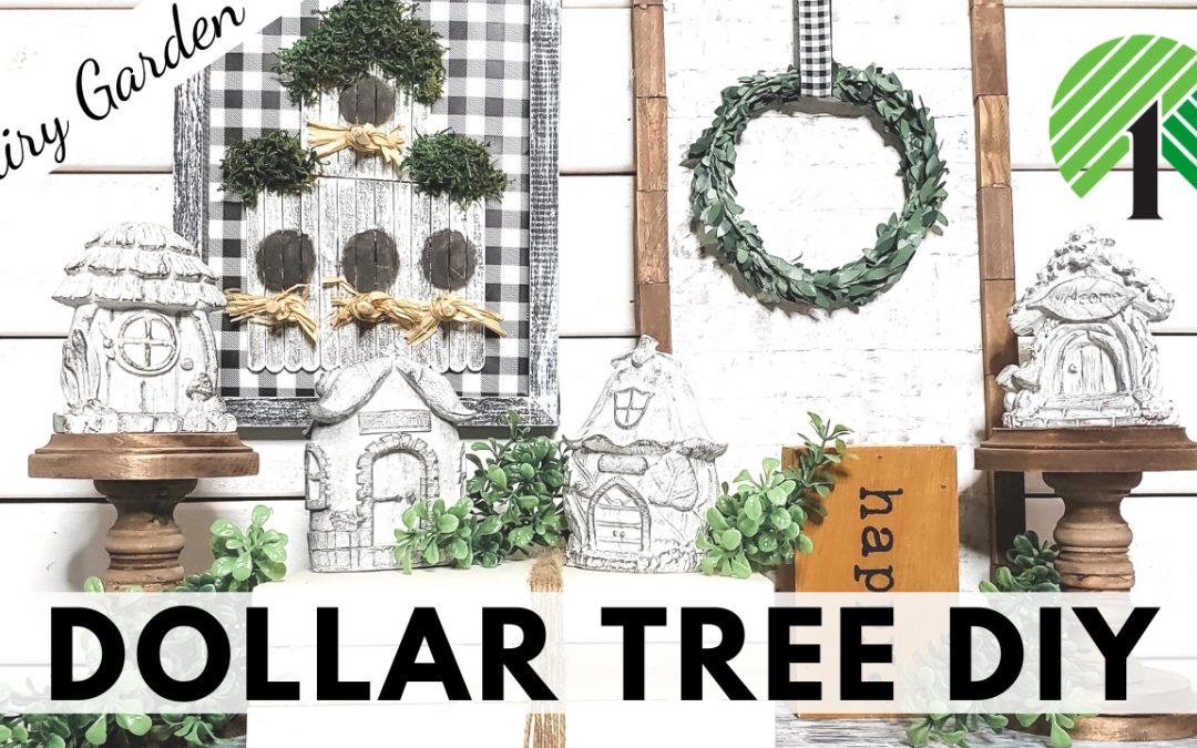 Dollar Tree DIY Farmhouse Fairy Garden