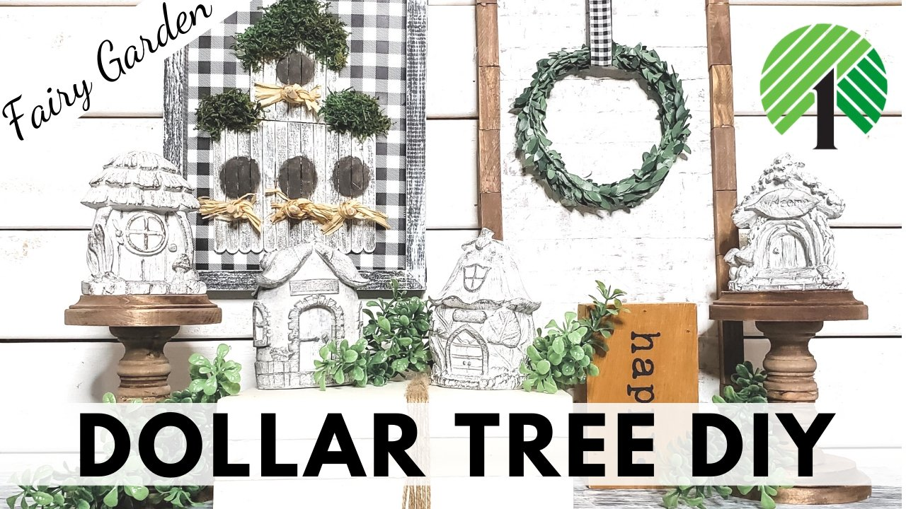Dollar Tree DIY Farmhouse Fairy Garden