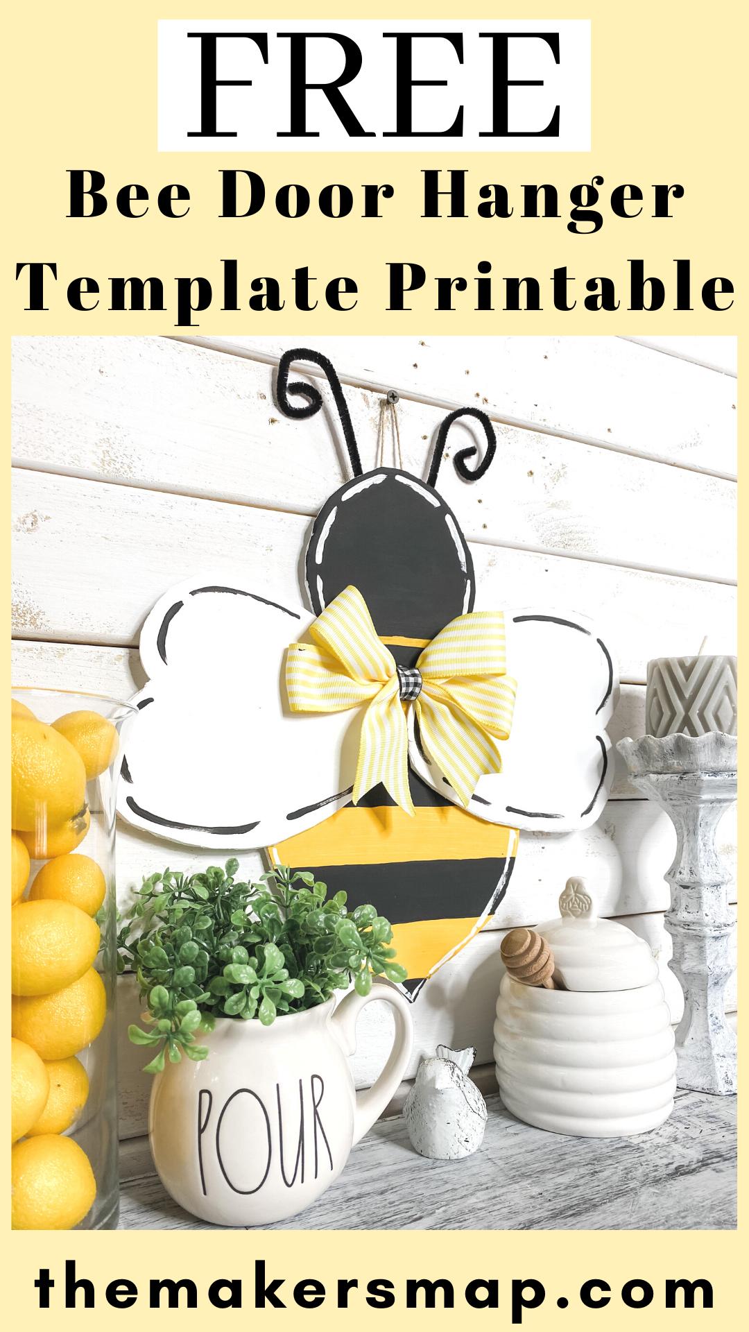 Bumble Bee Door Hanger Printable Template