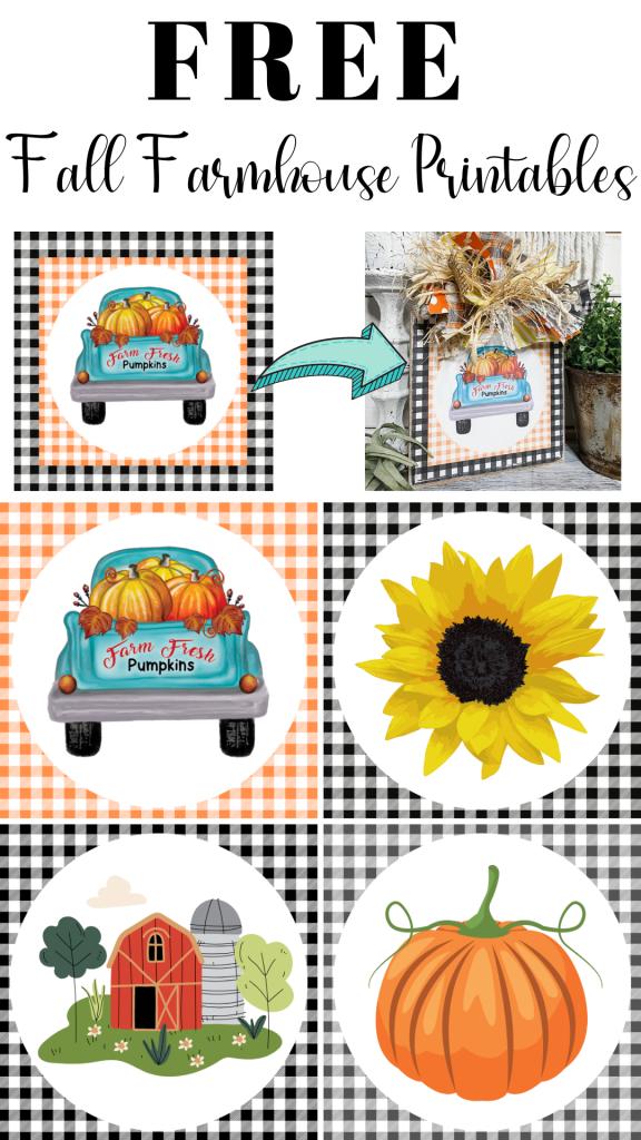FREE Fall Farmhouse Printables Pin