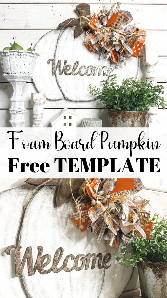 Free DIY Pumpkin Template Printable you can use with Dollar Tree Foam Board