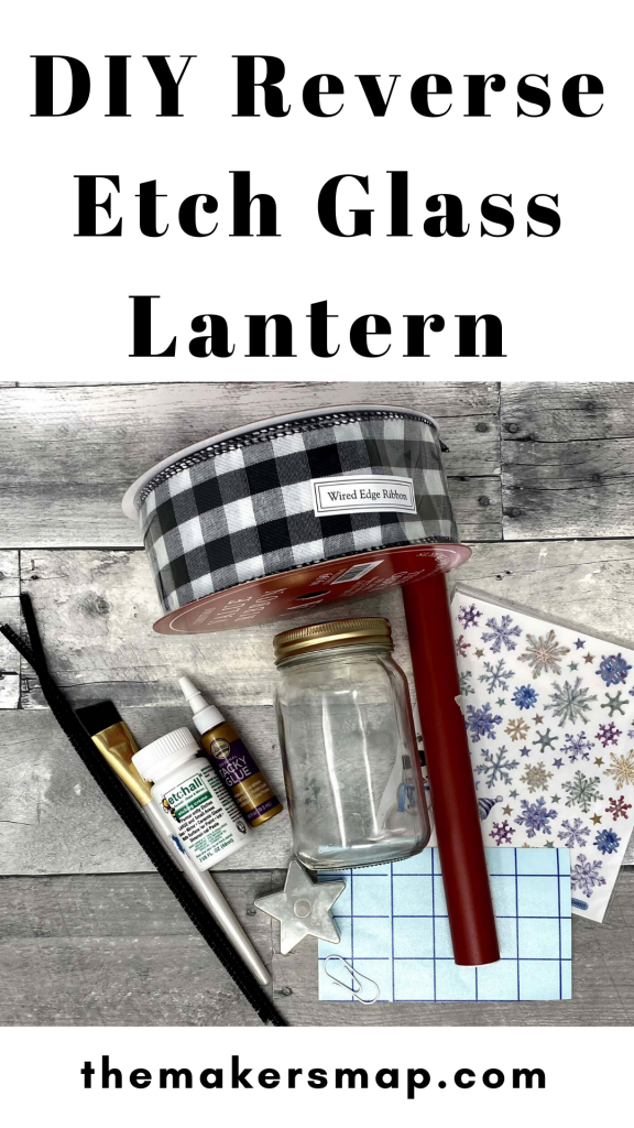 DIY Reverse Etch Glass Lantern