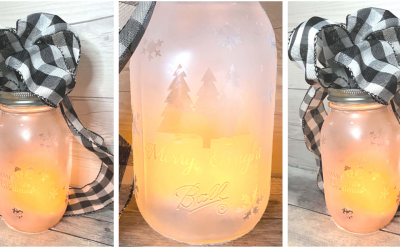 DIY Reverse Etch Glass Lantern