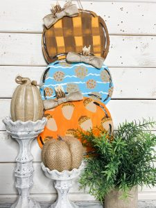 Dollar Tree DIY Foam board Reversible Pumpkin and Snowman