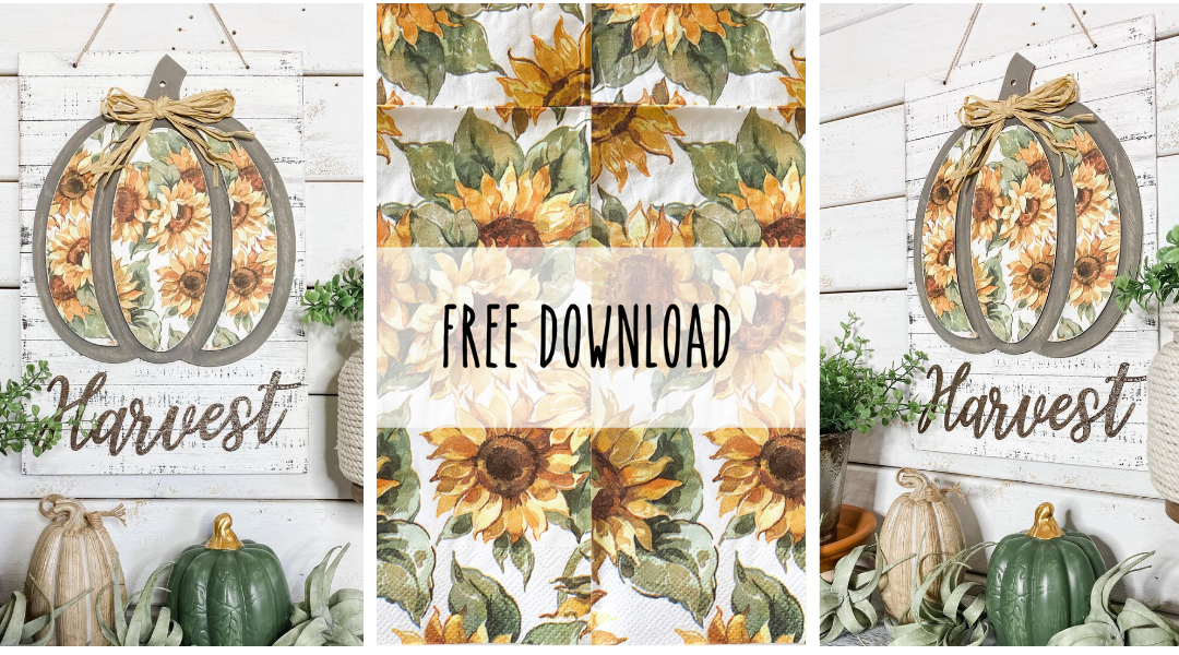 Free Sunflower Print Design