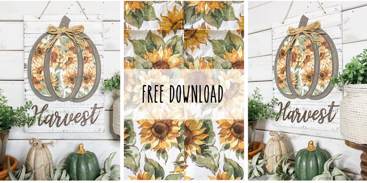 Free Sunflower Print Design