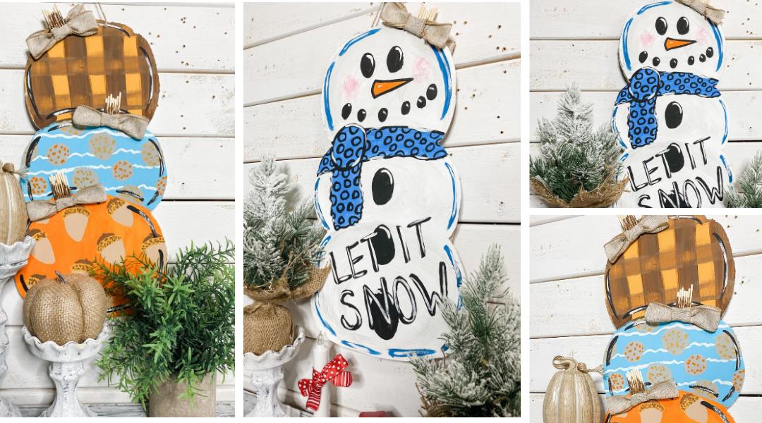 DIY Reversible Pumpkins and Snowman