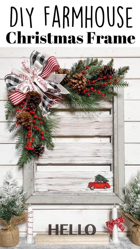 DIY Farmhouse Christmas Frame