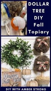 DIY Dollar Tree Topiary for Craftathon