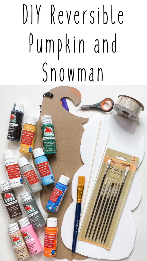 DIY Reversible Pumpkin and Snowman