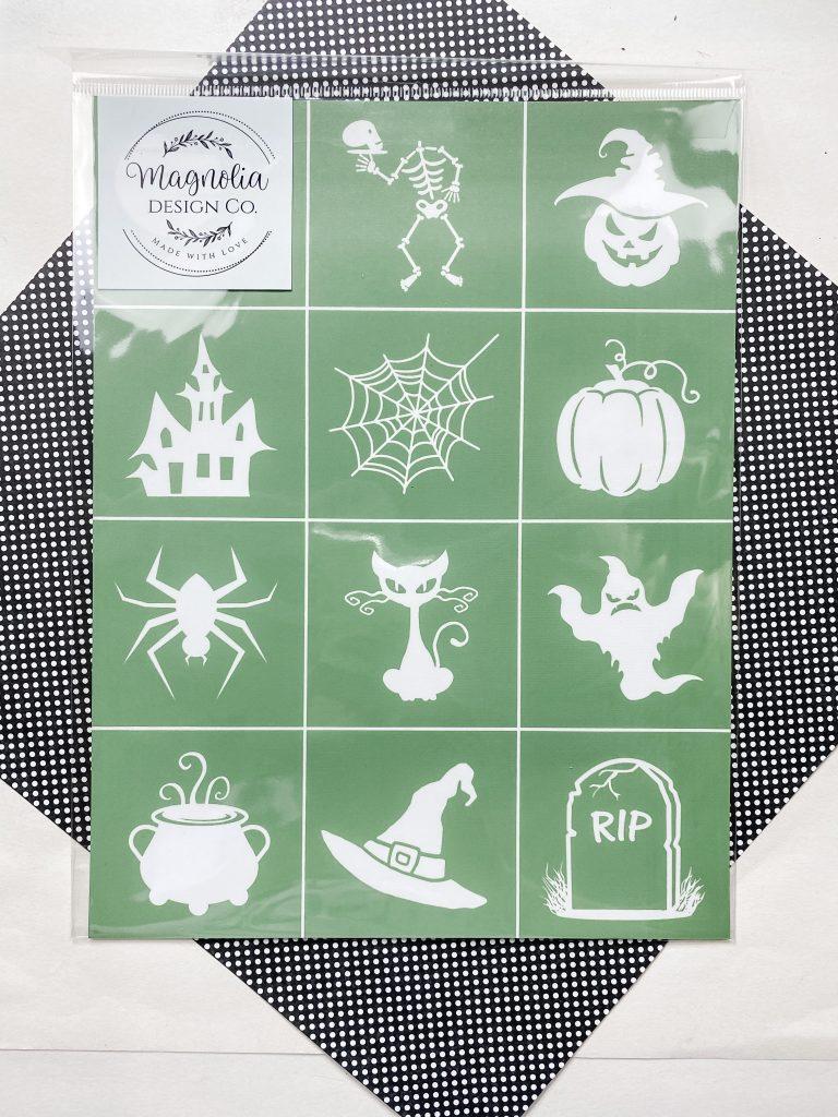 magnolia design stencil halloween