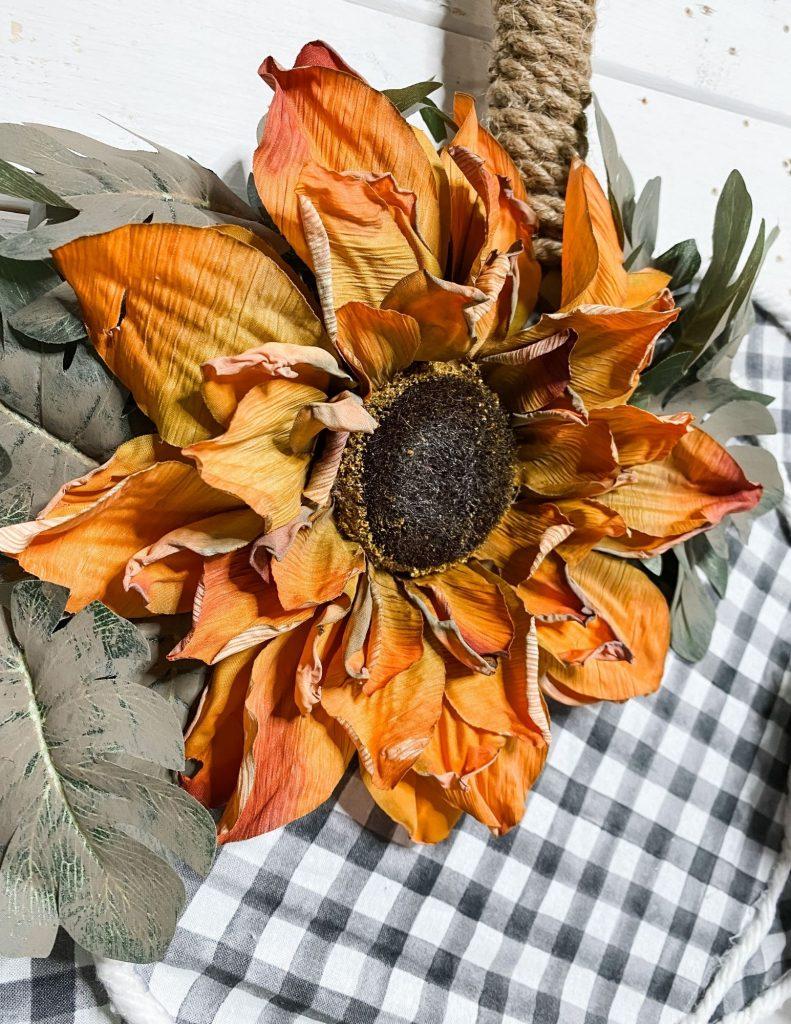 dollar tree fall splatter screen pumpkin sunflower