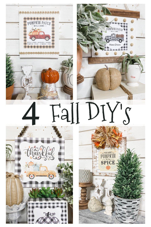 4 Fall Farmhouse DIY's