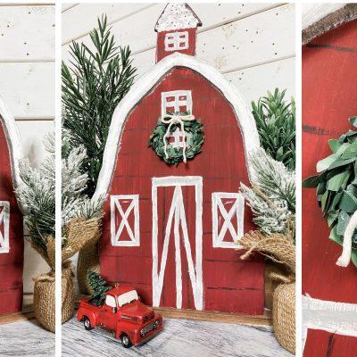 Foam board Christmas Barn DIY