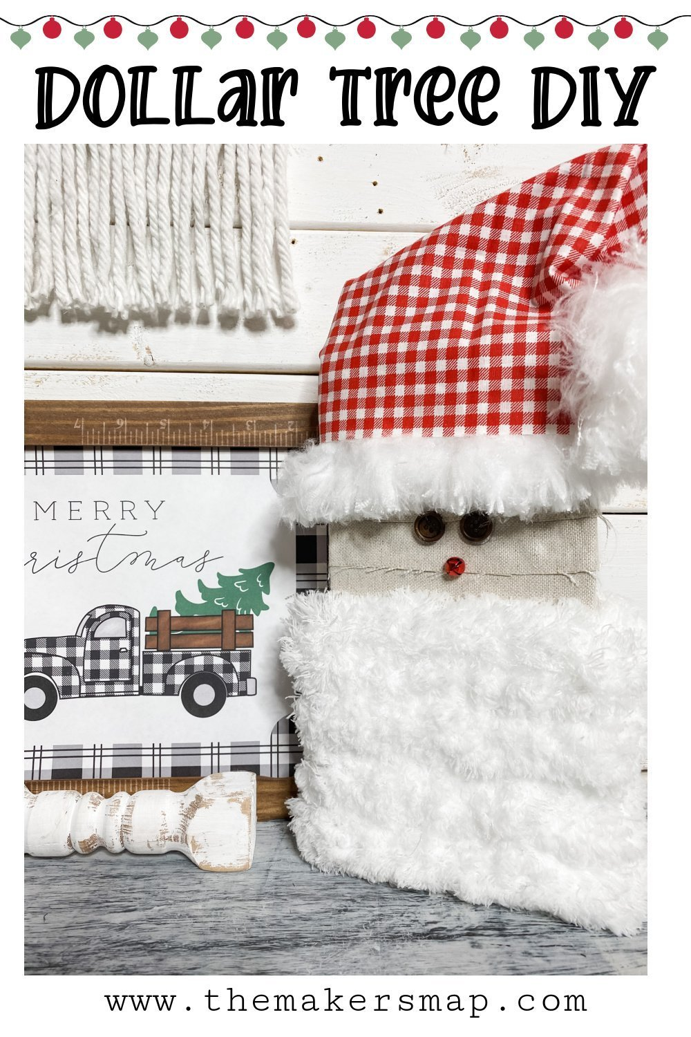 Dollar Tree Mop head Gnome Santa Duster DIY