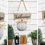 Dollar Tree Fall Foam Pumpkin DIY panel
