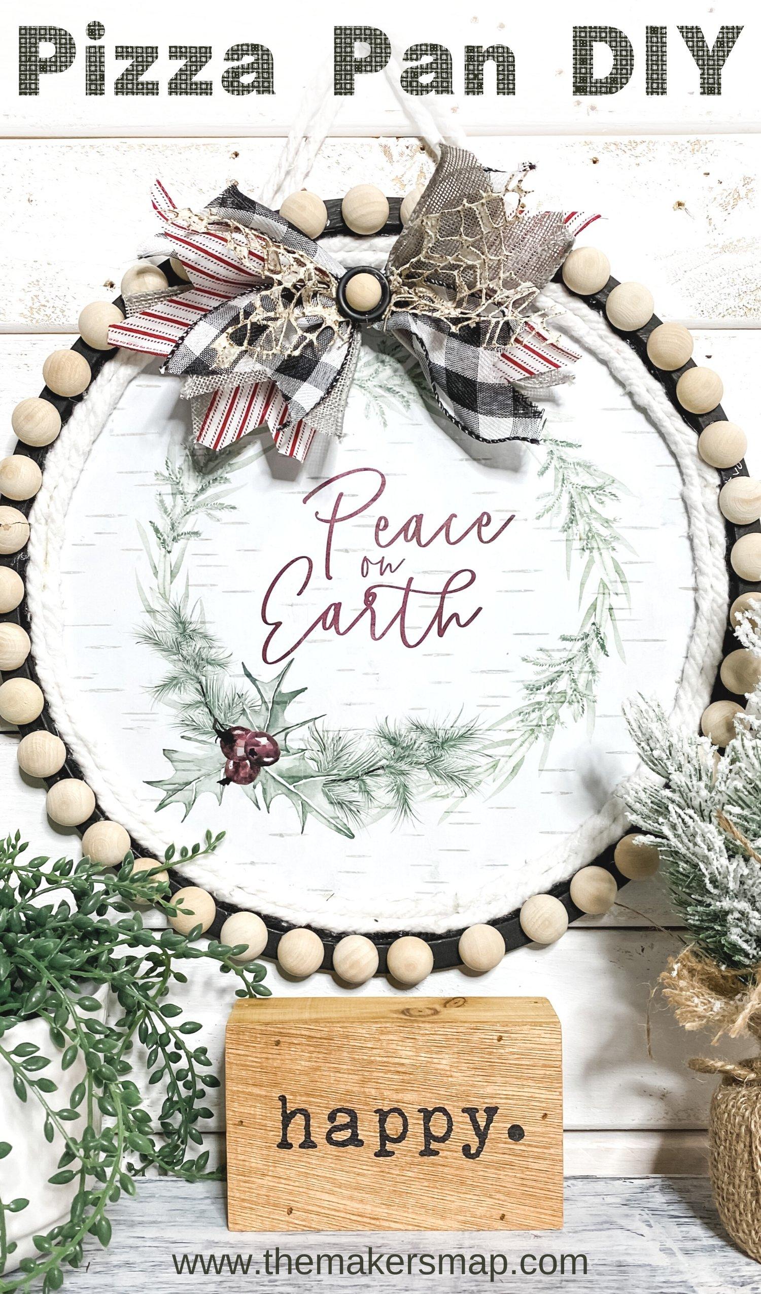 How To Make Dollar Tree Pizza Pan Christmas Diy
