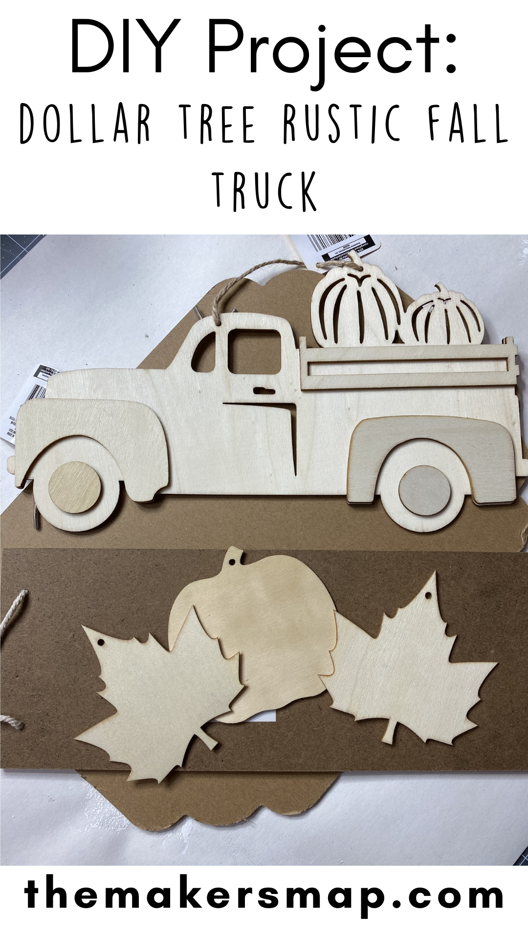 Dollar Tree Rustic Fall Truck DIY Supplies Pin