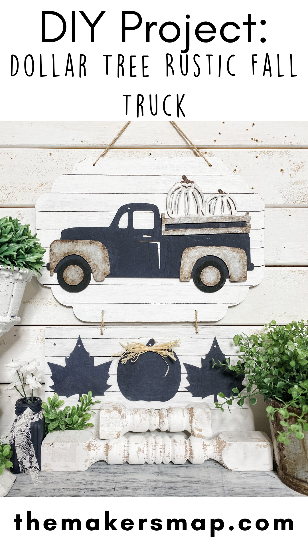 Dollar Tree Rustic Fall Truck DIY Pin