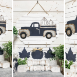 Dolla rTree Rustic Fall Truck DIY panel