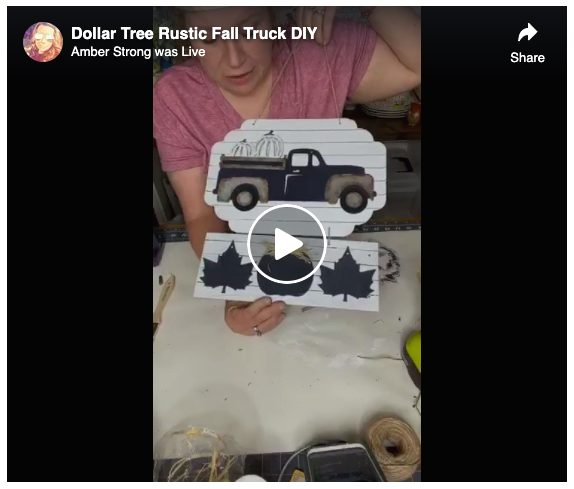 Screen Grab Dollar Tree Rustic Fall Truck DIY