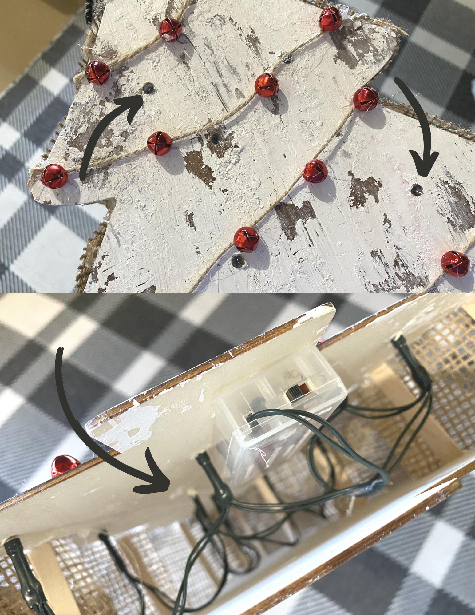 Dollar Tree Chippy Christmas Tree DIY