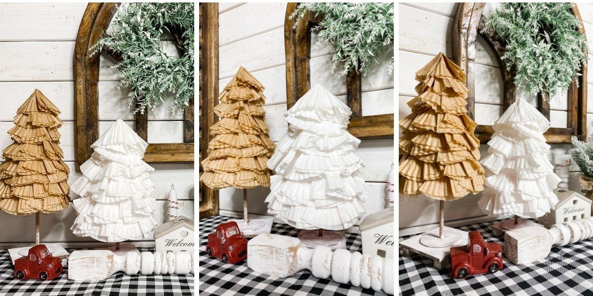 DIY Cupcake Liner Trees