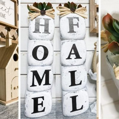 How to DIY: Dollar Tree Stacked Foam Blocks Home Decor