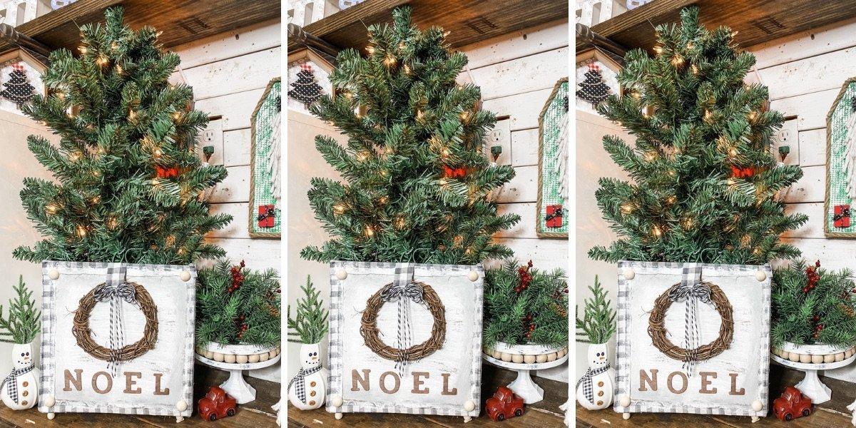 Easy Christmas Tree Stand Box Dollar Tree DIY