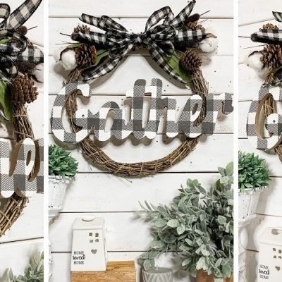 How to Make a Fall Dollar Tree Grapevine Wreath DIY