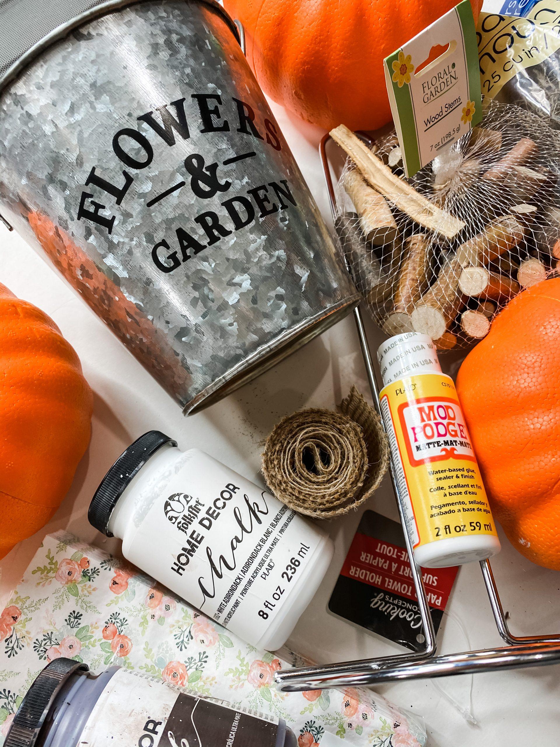 Make a Dollar Tree Fall Foam Pumpkin Topiary DIY